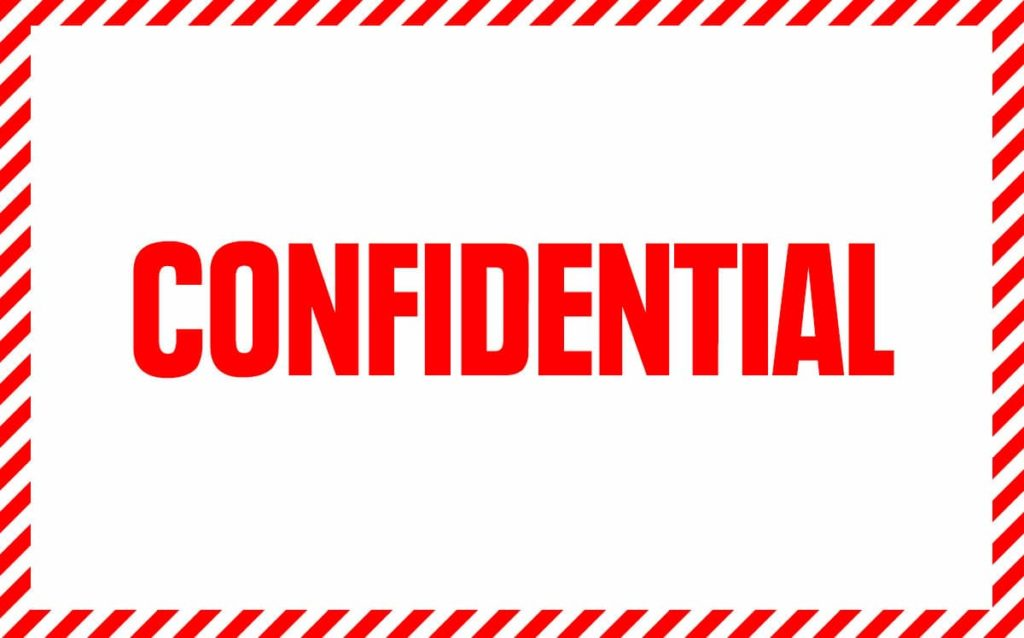 Element of confidentiality